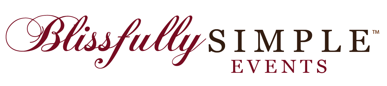 Blissfully Simple Events Logo Horizontal Color
