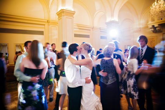 Bride & Groom dancing at wedding reception