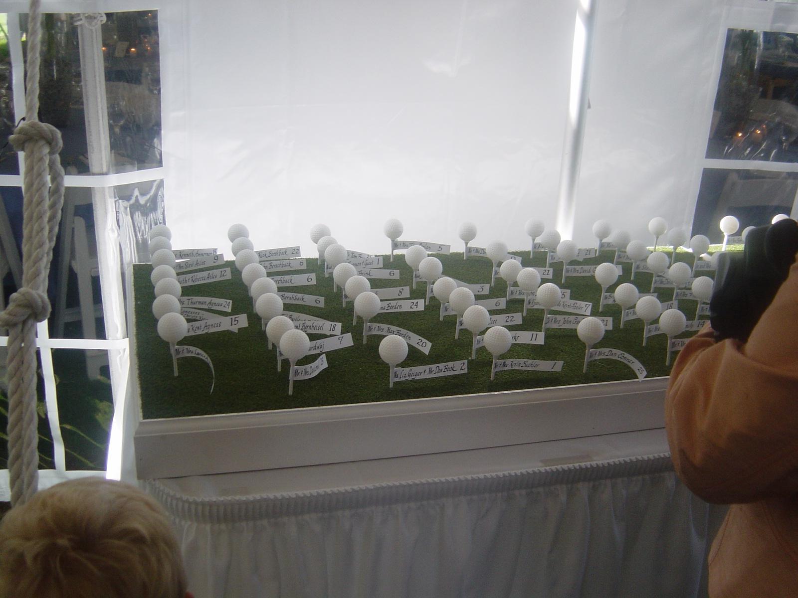 Golf tee name cards