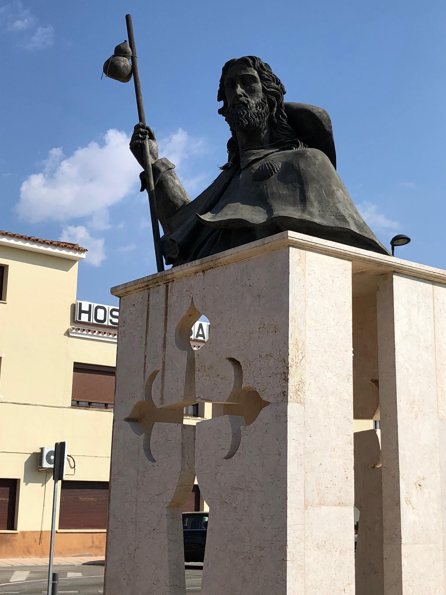 SANTIAGO STATUE AT THE ENTRANCE OF QUINTANAR DE LA ORDEN