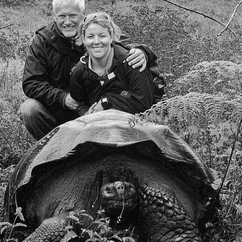 Allan & his wife Robyne on a photographic excursion in the Galapagos Islands