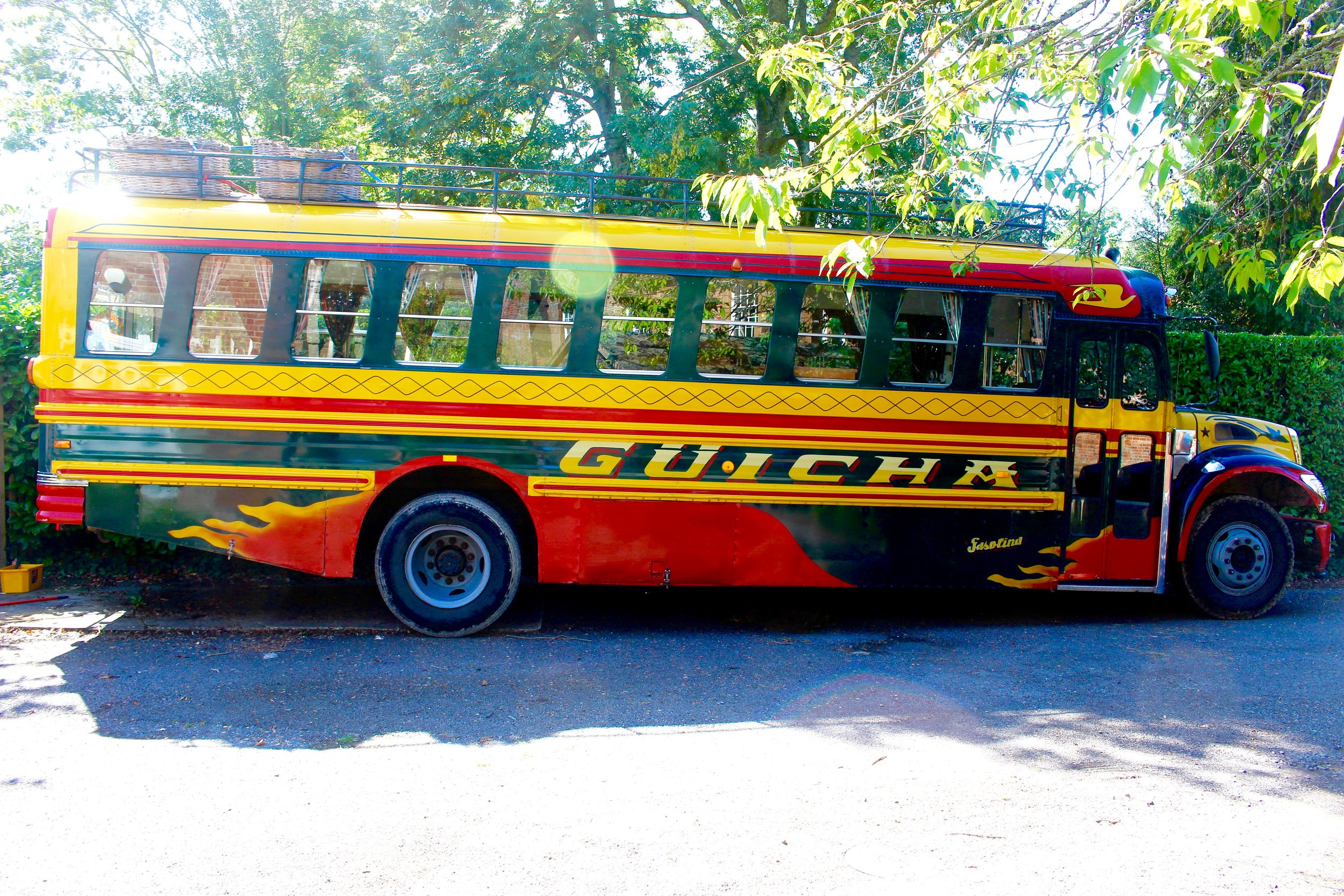 Hire our bus for your event! - Meet Güicha, a 1980's Guatemalan Chicken Bus! Kitted out as a café, she'd ready to serve at events such as weddings, birthdays, cocktail parties, champagne soireés (I mean, who doesn't hold a champagne soireè?)For more info head over to www.guichacoffeebus.co.uk