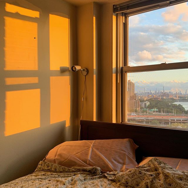 Making New York home again one silk pillow sham at a time #golden #hour #on #the #skyline #doesnt #hurt #either #yknow #?