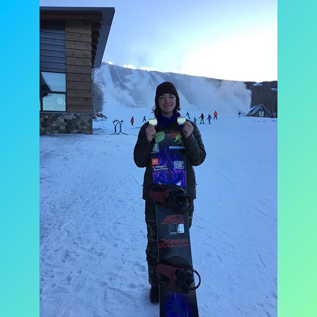 Took home two golds today from Sugarloaf boarder cross. Great way to start the season #doneksnowboards #vtpb