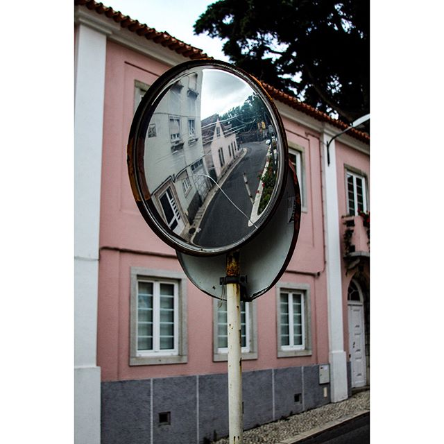 Mirror on streets of Sintra, Portugal. Didn't know which edit I liked more so here's both :) // #canon7d #canonusa