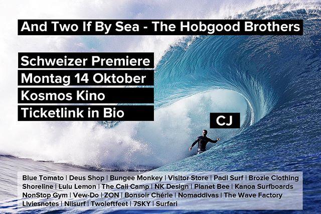 As promised @cjhobgood_ , here your post. A solid left barrel! 🚀 - 🌴🎬 And Two If by Sea - The Hobgood Brothers 🏄♂️🏄♂️🌴 Am Montag 14 Oktober in @kosmoszuerich! 🍿 Link zu Tickets im Profile. Wir freuen uns!! 🍻 . . . #surfzürich #surfzurich #surfzurichkino