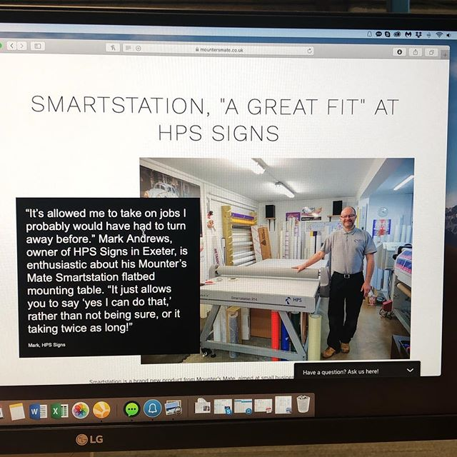 Our HPS Sign case study about the Mounters Mate Smartstation 214 - link in bio #flatbedapplicator #applicationtable #casestudy