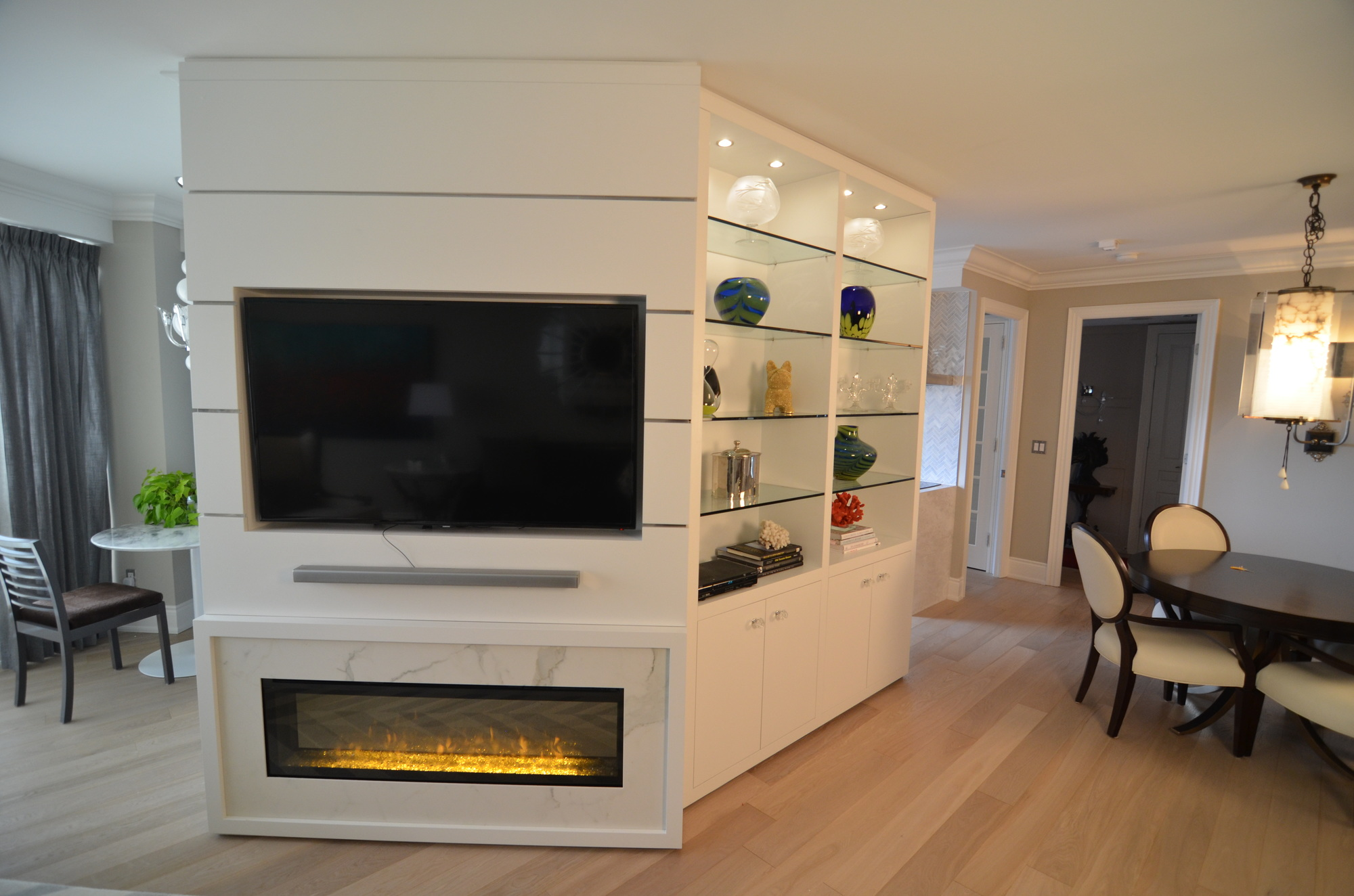 Dining Room Electric Fireplace