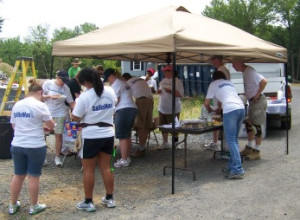 Volunteers participate in the Fed by Faith program