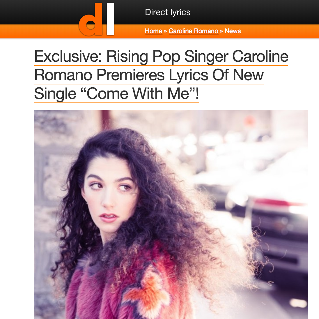 "Direct Lyrics - ""Come With Me"" Lyric Premiere"