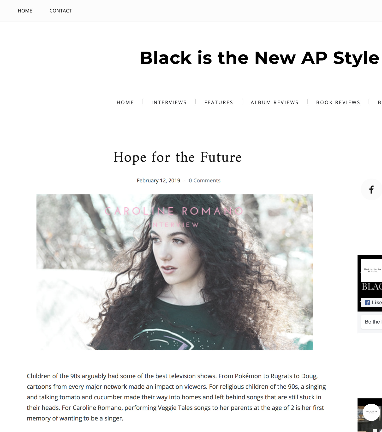Black Is The New AP Style - Interview Feature
