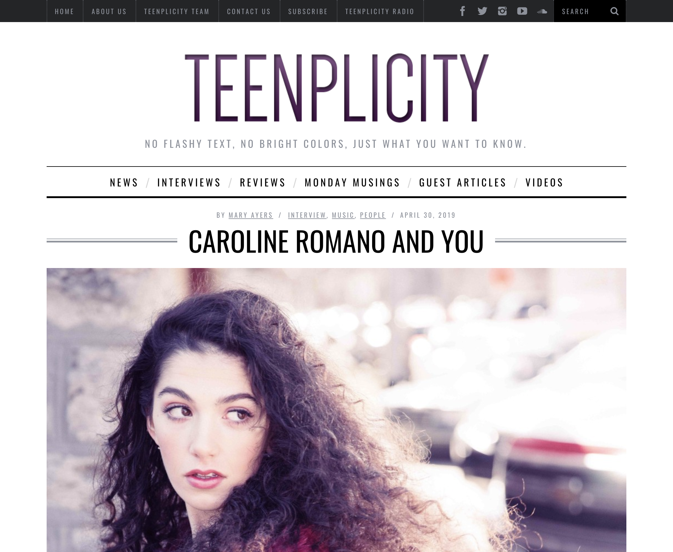 Teenplicity - Interview Feature