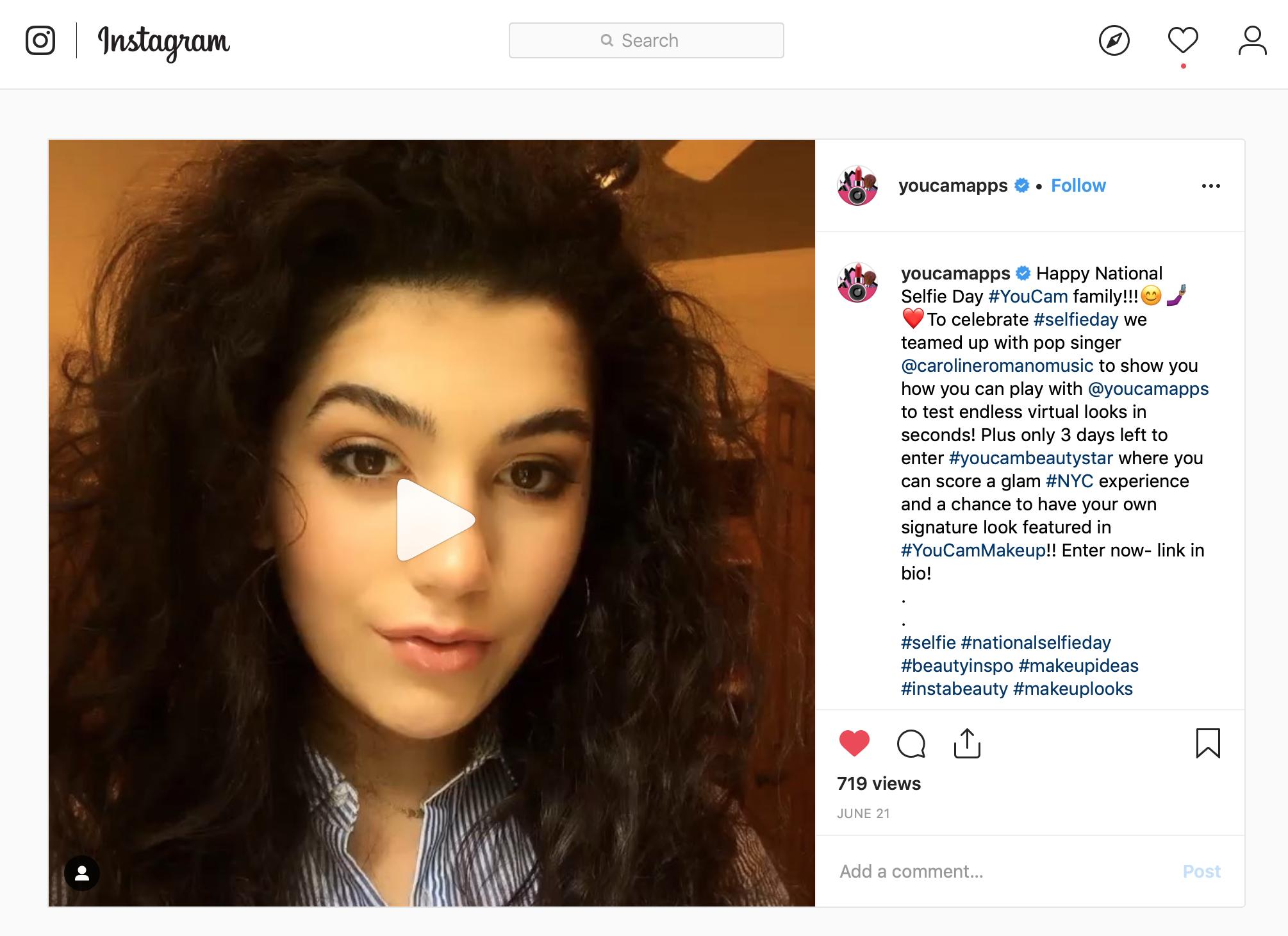 YouCam Beauty - #NationalSelfieDay Social Posts