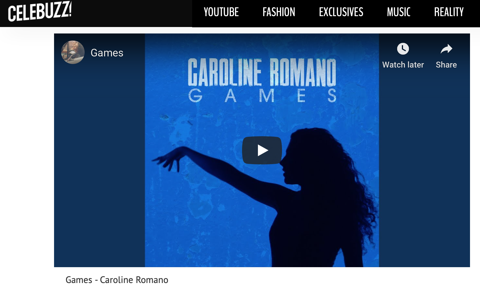 """Celebuzz - """"Games"""" New Music Friday Feature"""