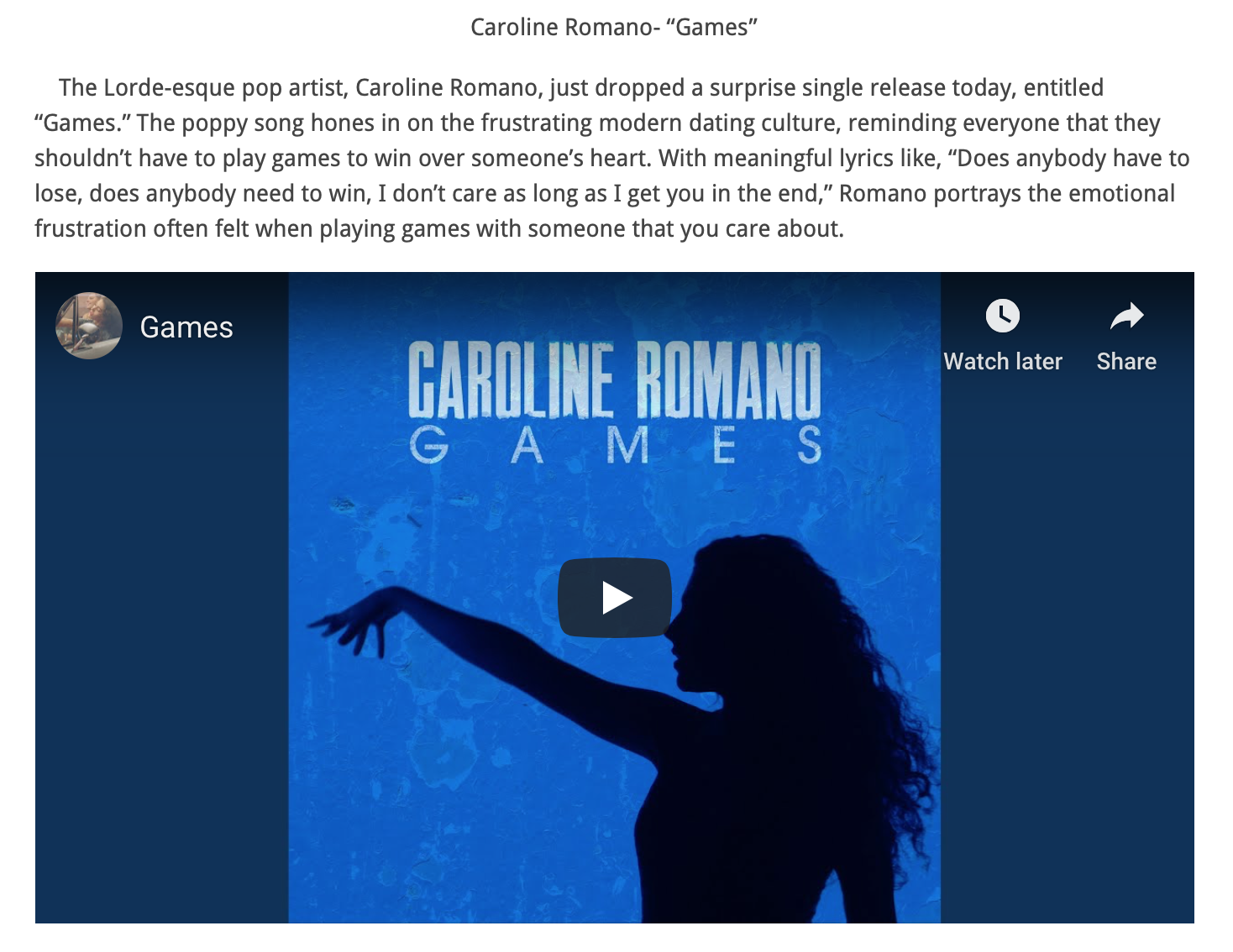 """Teen Music Insider - """"Games"""" New Music Friday Feature"""