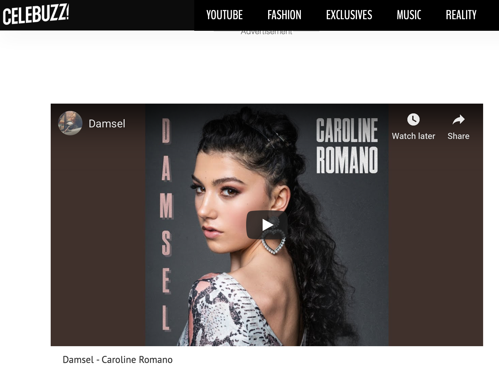 """Celebuzz - """"Damsel"""" New Music Friday Feature"""