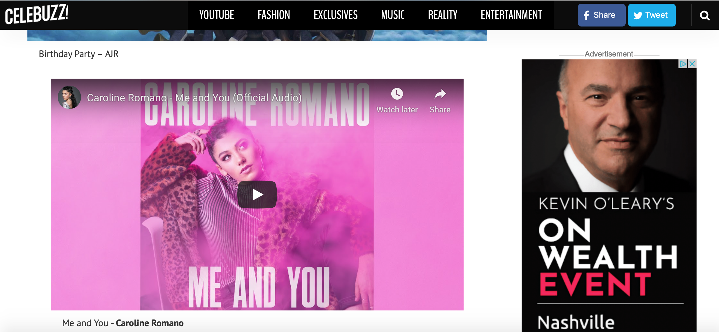 """Celebuzz - """"Me and You"""" New Music Friday Inclusion"""