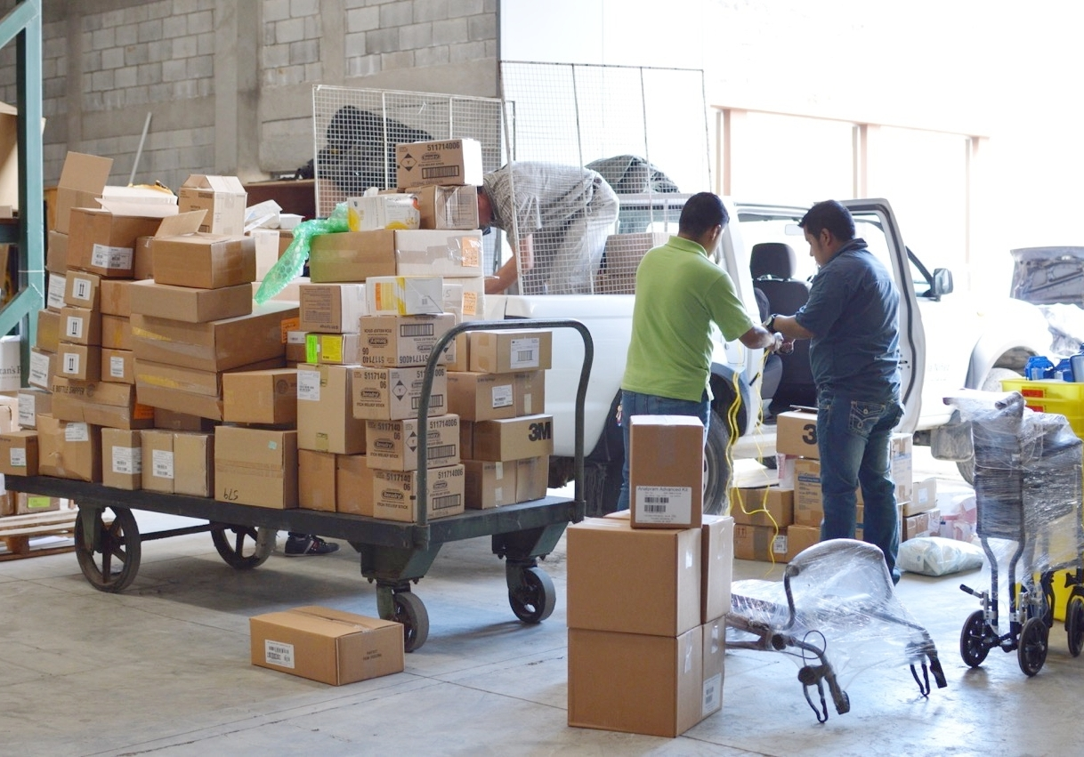 Doctors, nurses, clinics, and orphanages pick up the supplies they need at Vine's distribution center in Guatemala