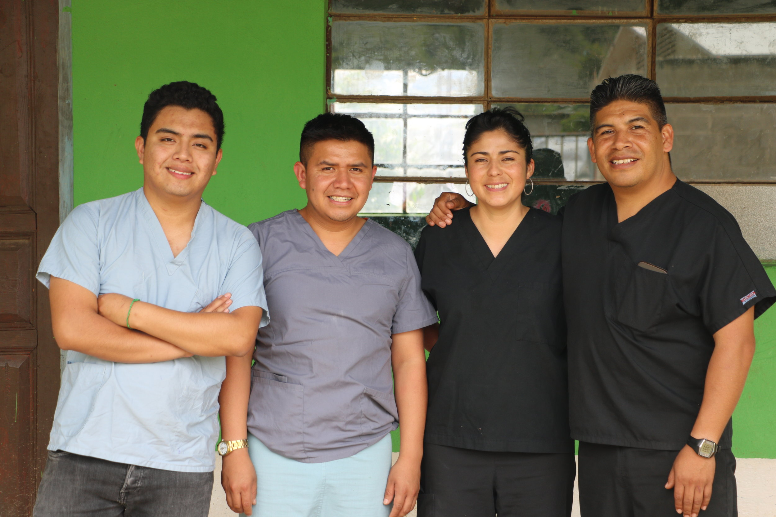 Otto and Miguel (physicians' assistants), and Lindsay and Paul