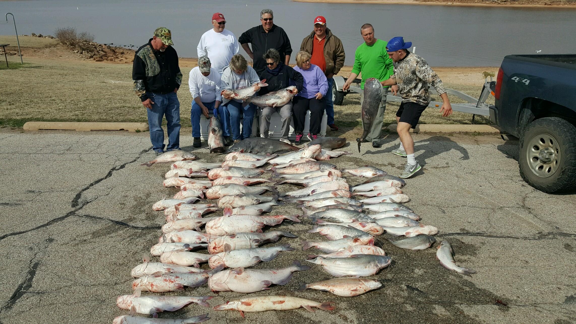 We all caught this big mess of catfish at Lake Keystone this Spring.JPG