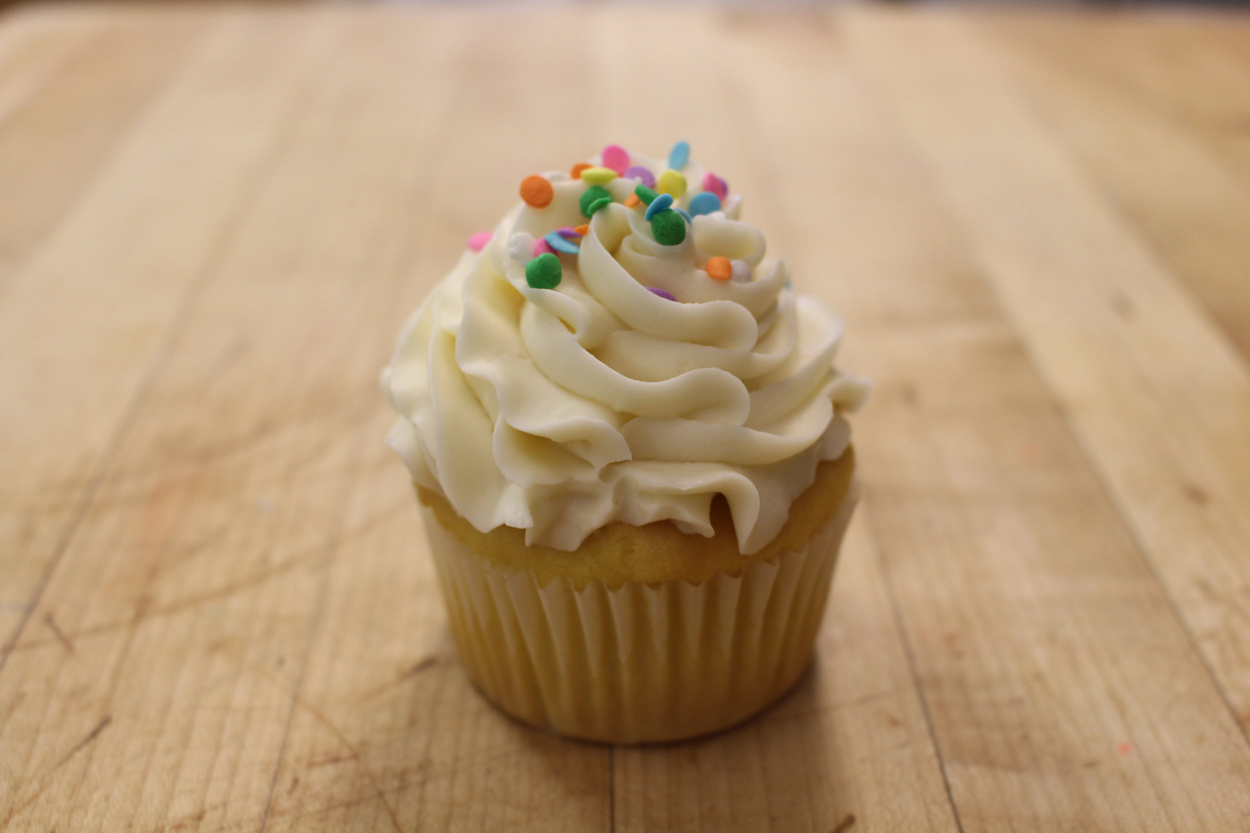 Gluten Free Yellow Cupcake with Buttercream Frosting