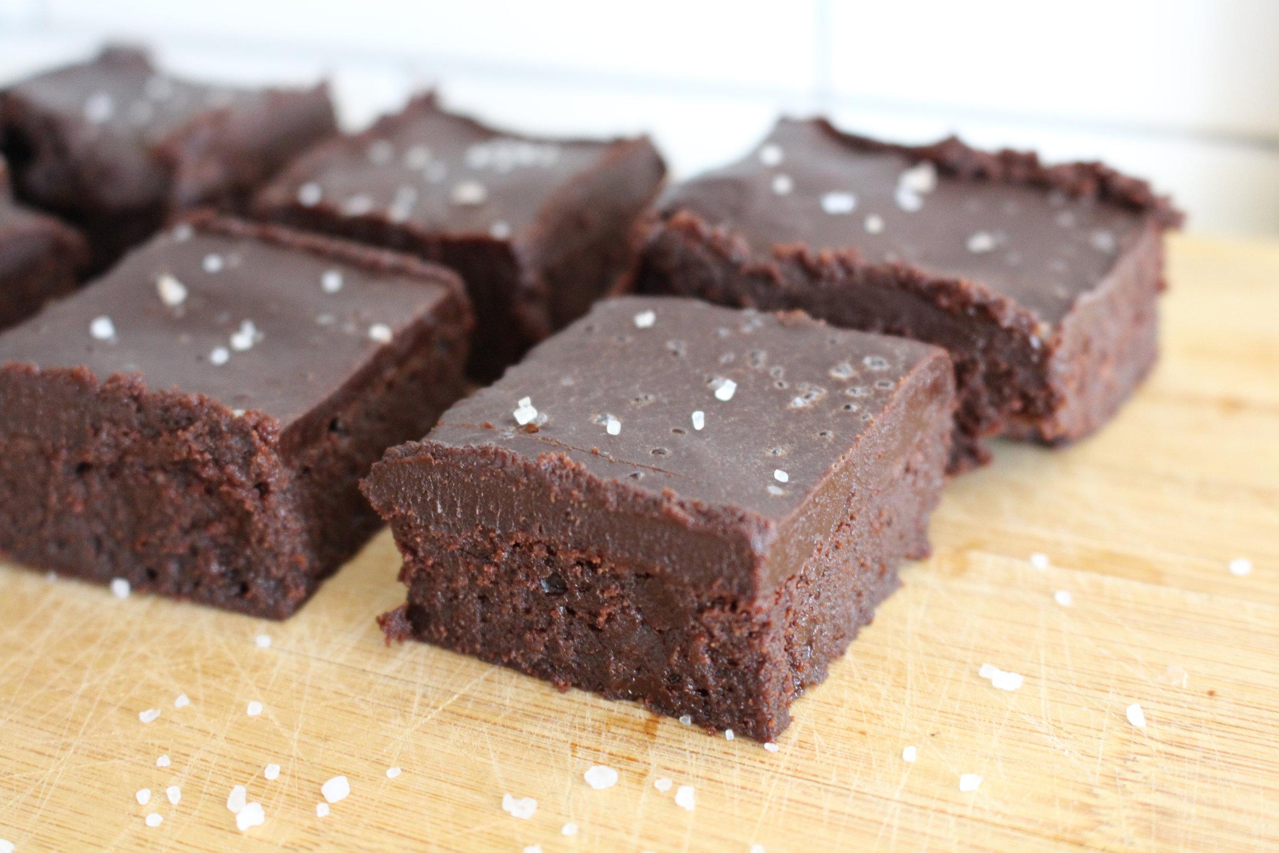 Flourless Chocolate Brownie with Sea Salt Ganache (GF)