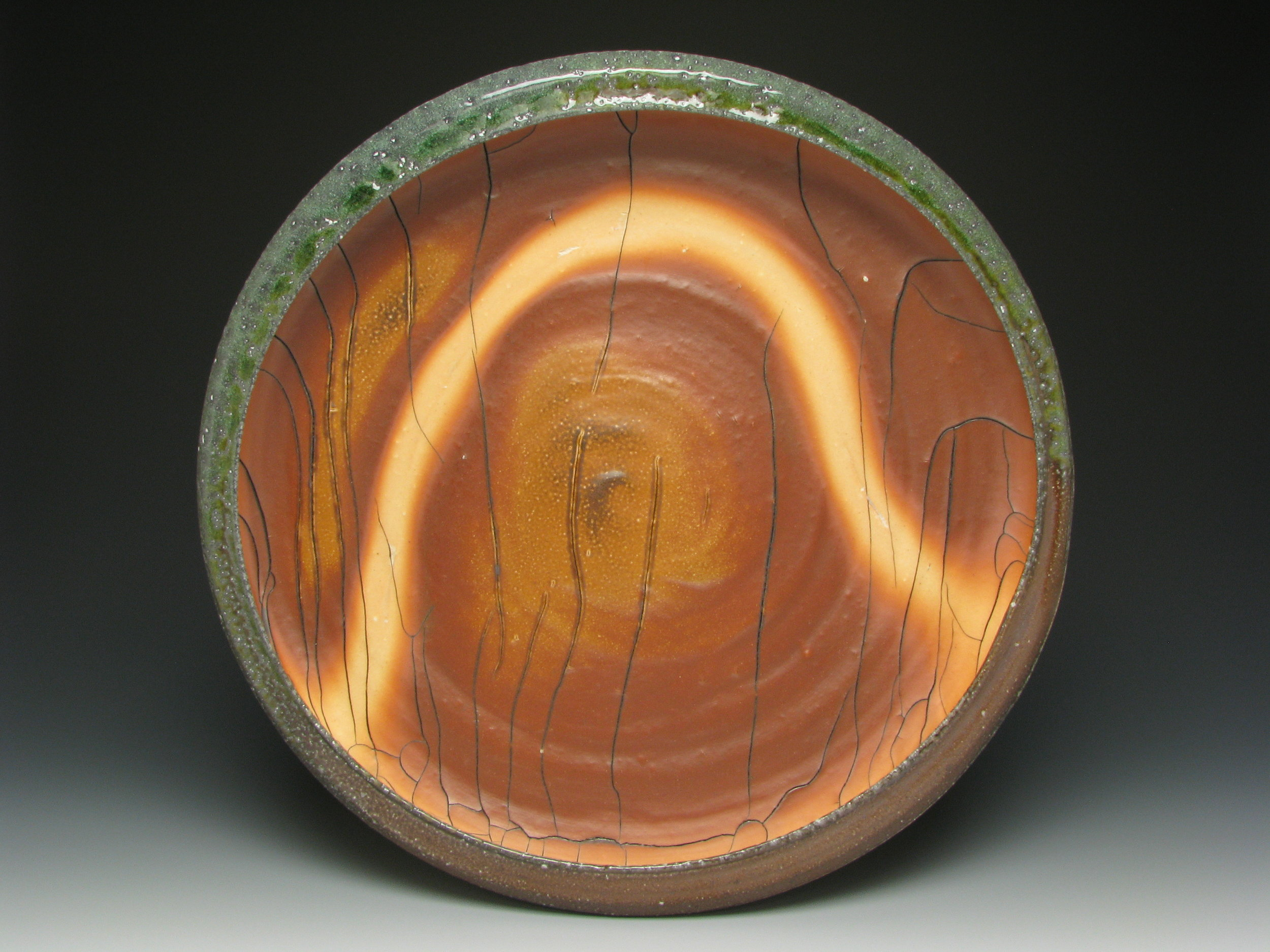 Grava - Arch Platter- Soda Fired cone 10 Stoneware with Flash Slip. $350.JPG