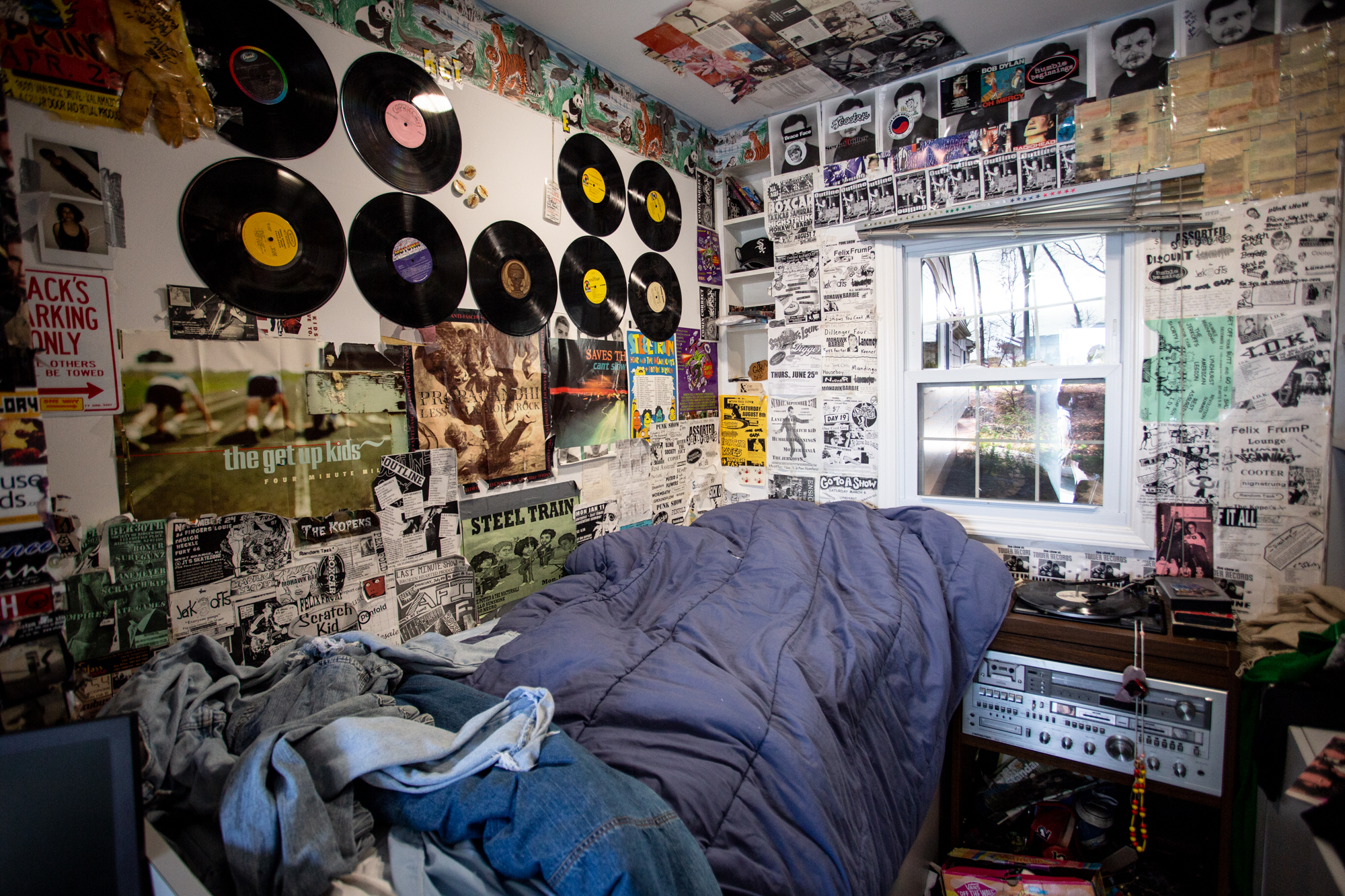 Jack Antonoff's recreation of his bedroom, on display at Shadow of the City festival in Asbury Park, NJ on August 25, 2018.