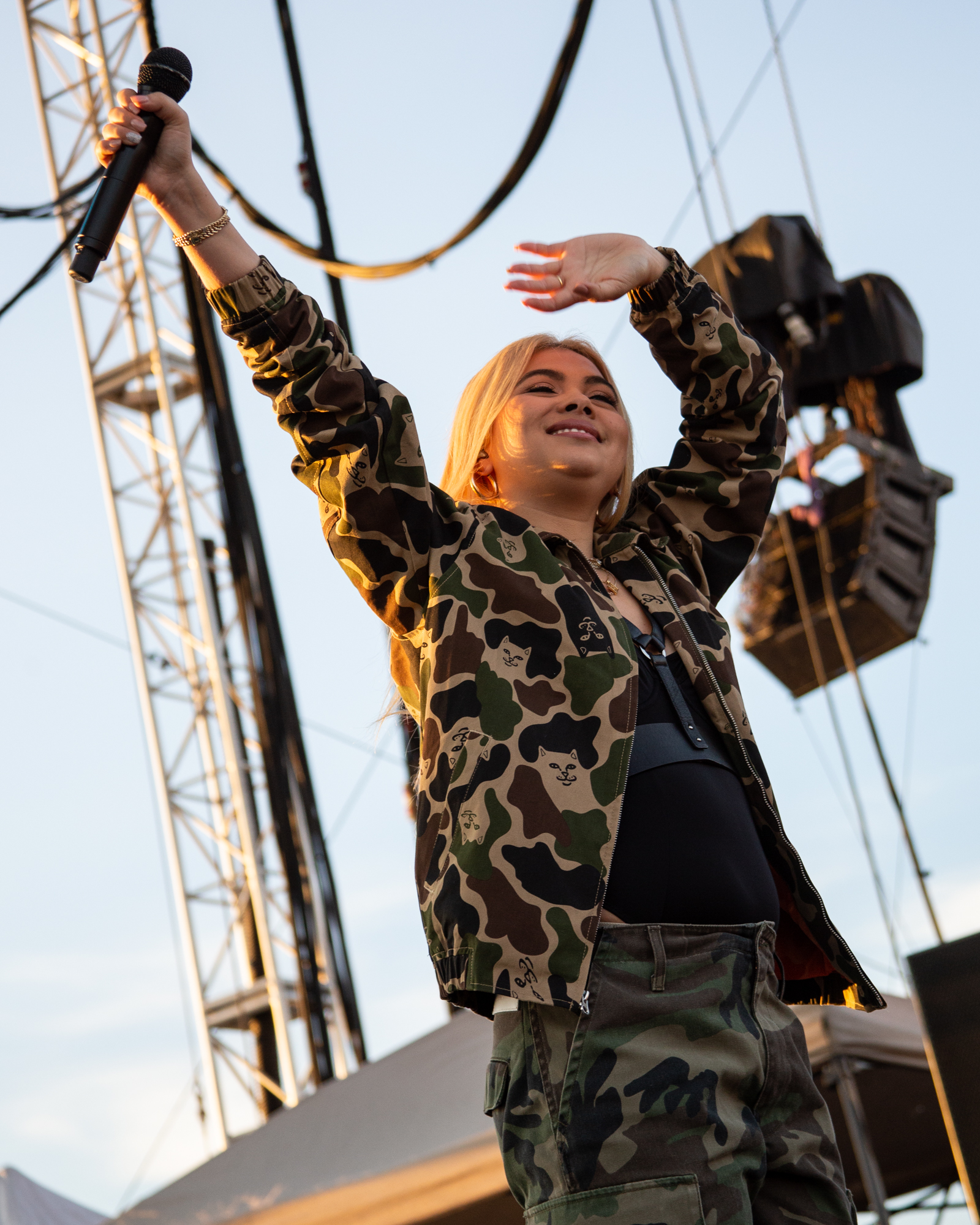 Hayley Kiyoko performs at Shadow of the City festival in Asbury Park, NJ on August 25, 2018.