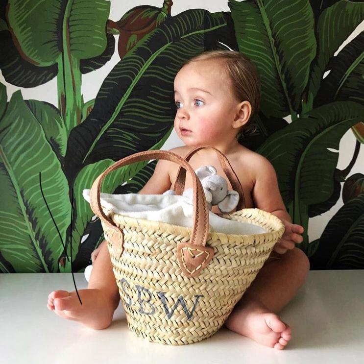 PLAIN BABY BASKET - £25