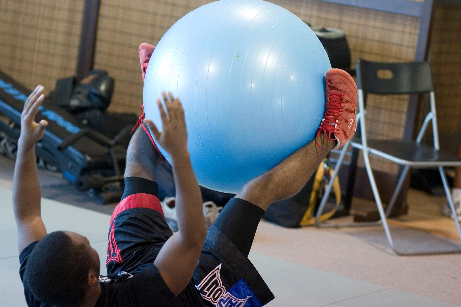 Dre with exerice ball smaller (on website).JPG