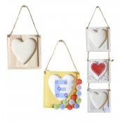 Wooden Hanging Heart Picture Frame £0.75 each!
