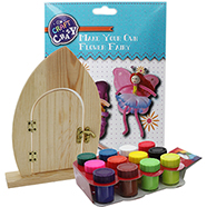 Decorate your own Fairy Door and make your own flowers set