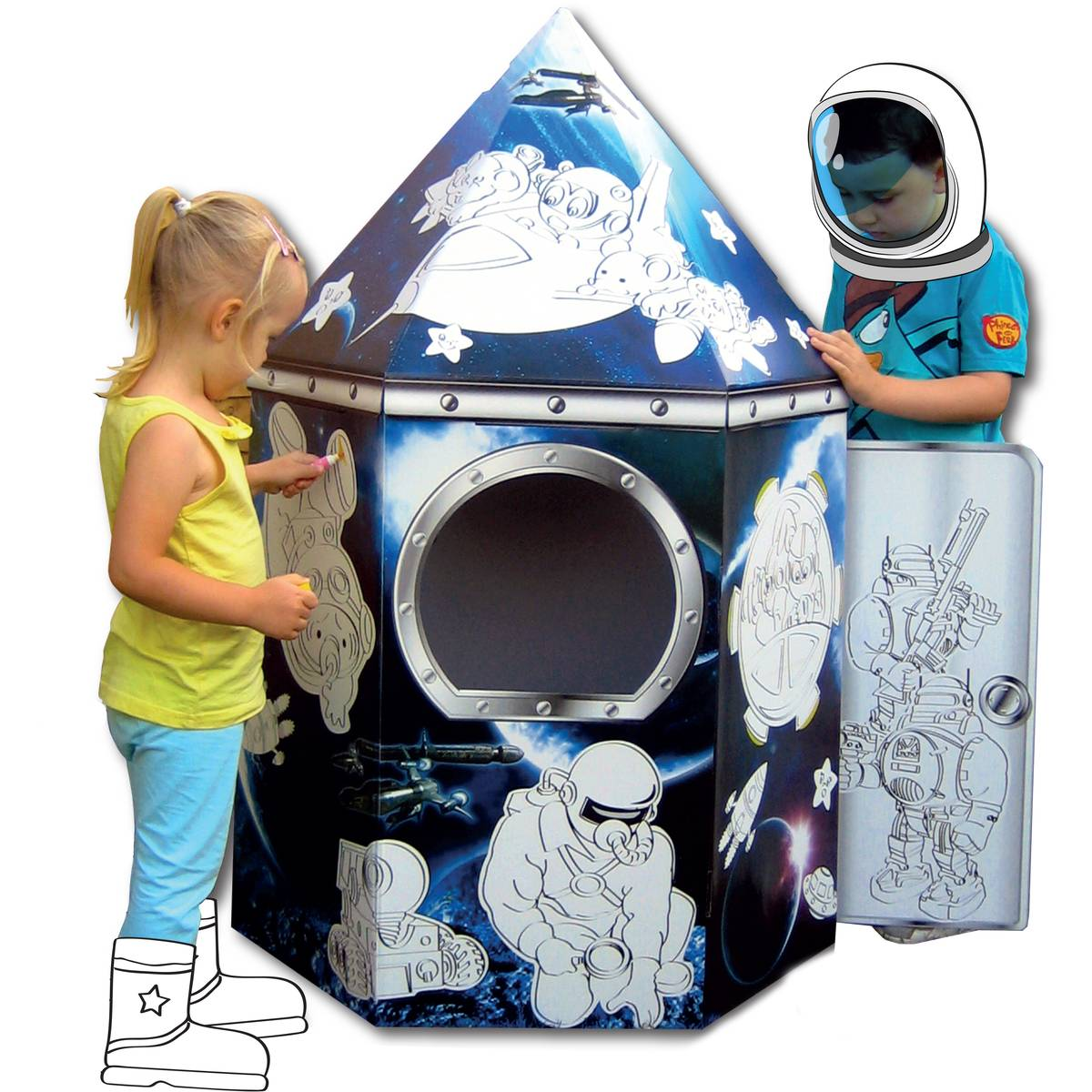 - Colour In Cardboard Rocket Playhouse, Hobbycraft £17