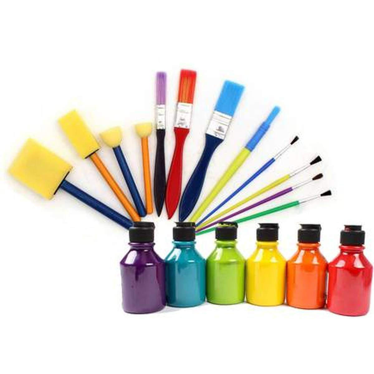 - Kids Brushes And Ready Mix Paint Bundle, Hobbycraft, £5