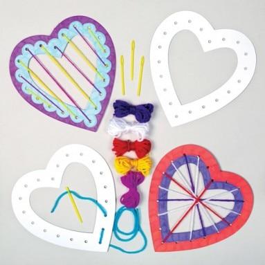 - Heart Weaving Kits, Baker Ross, £3.75 for a pack of 6