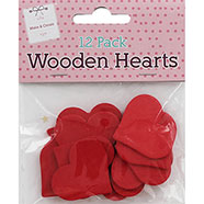 - 12 Pack of Wooden Hearts, The Works, £1