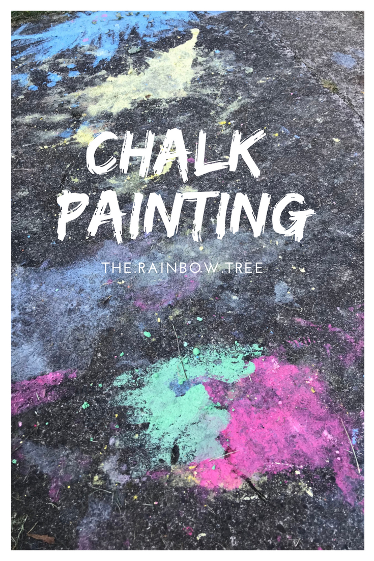 Chalk painting is an inexpensive art activity you can do with your Little Feet outdoors. All you need is some pavement or road, some chalk, water and paintbrushes and bobs your uncle you are sorted.