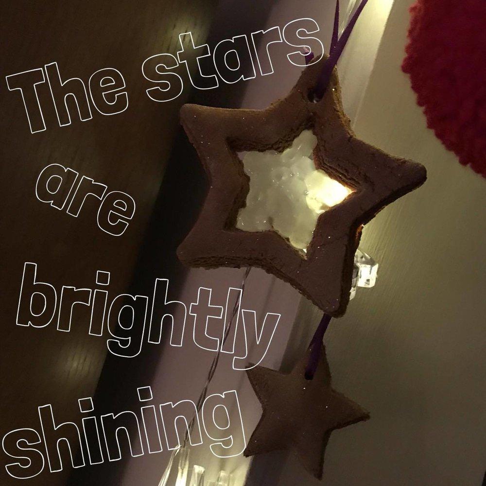 Salt dough stained glass stars