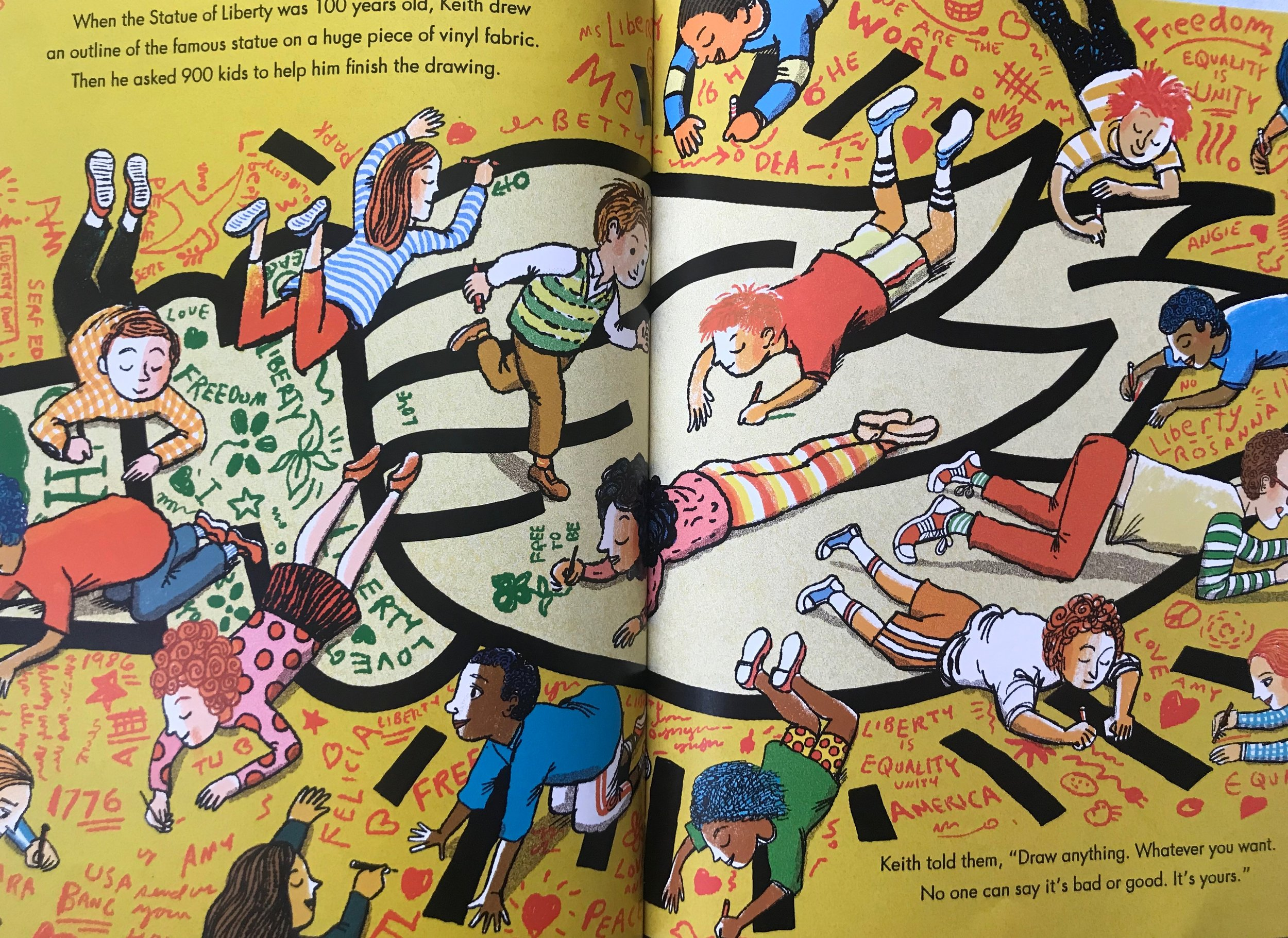From the book Keith Haring: The Boy Who Just Kept Drawing