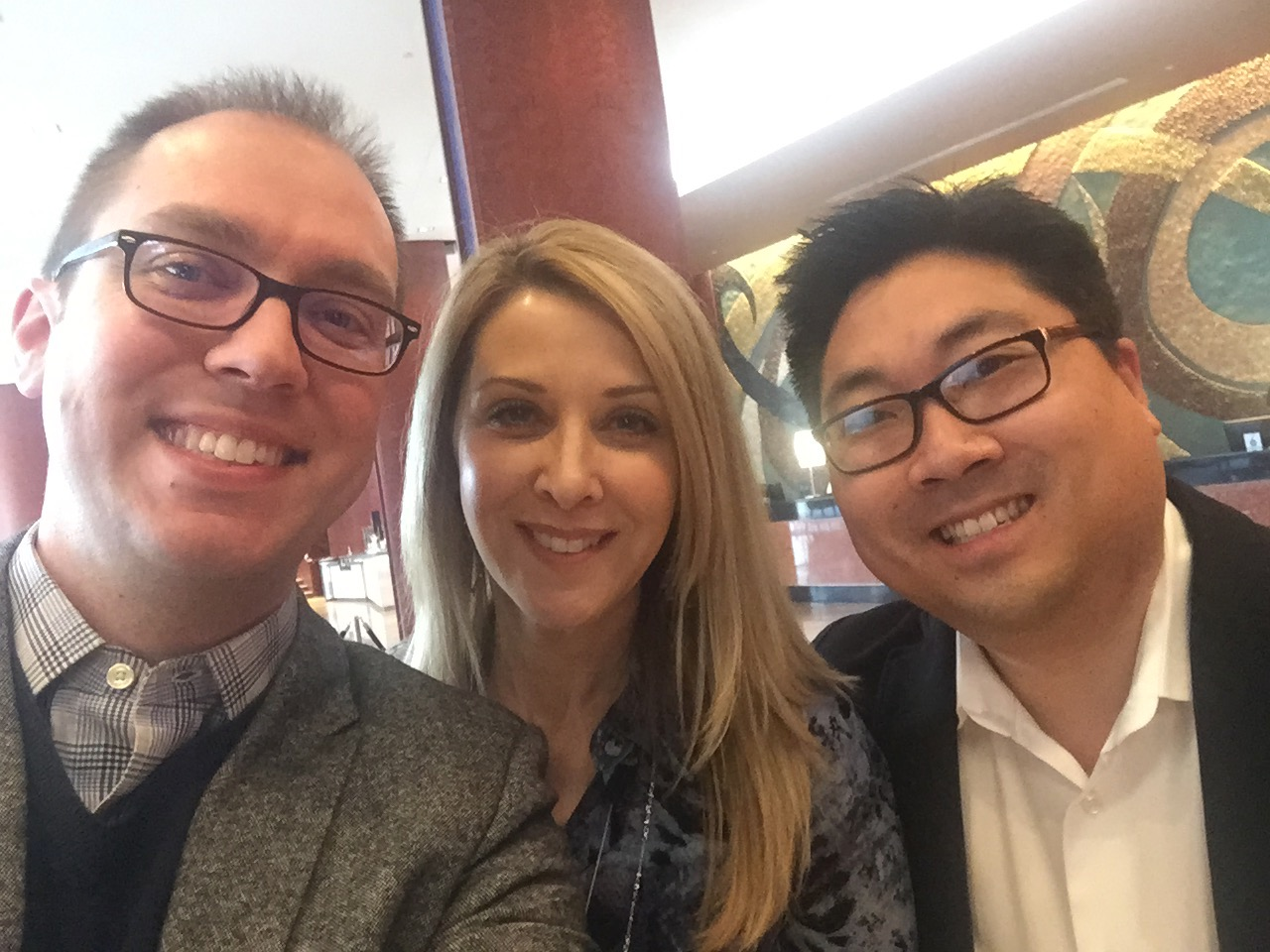 Matt Reichert, Lorraine Hess, and Zack Stachowski at the Mid-Atlantic Congress in Baltimore, Maryland (2019).