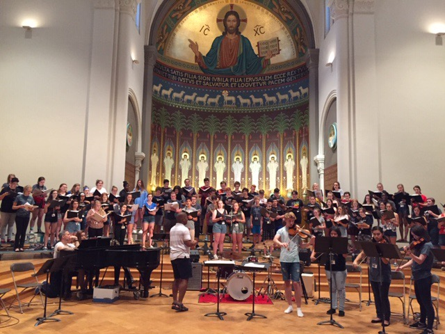 OCI 2019 participants in rehearsal at Saint John's University, Collegeville, MN