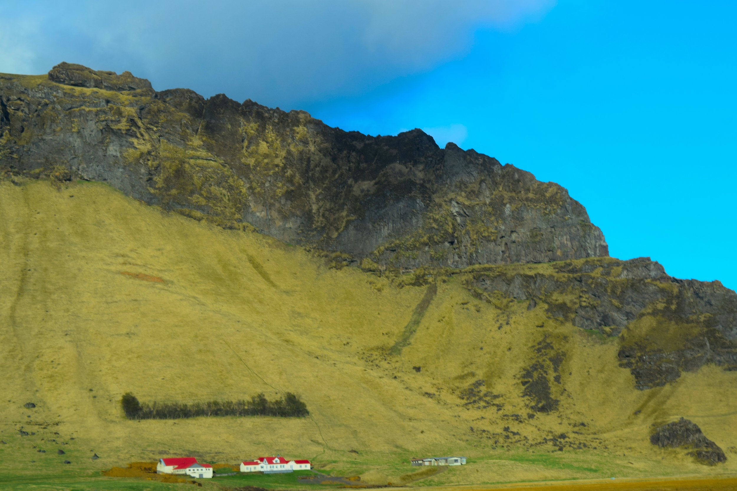 Views from the car in Iceland.
