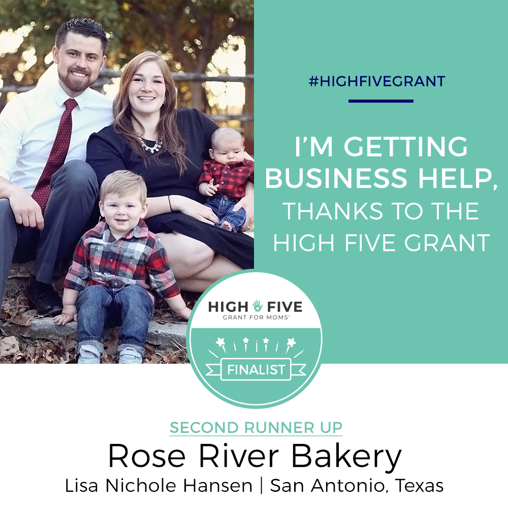 High Five GRant for moms second runner up