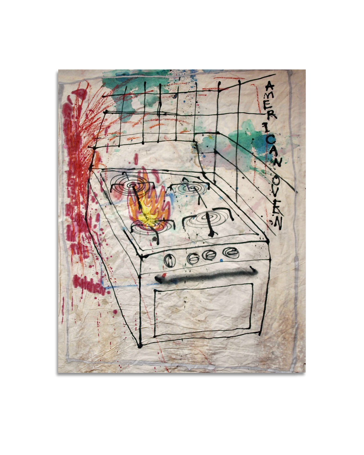 """American oven (and there is blood in the kitchen)"" 2018"