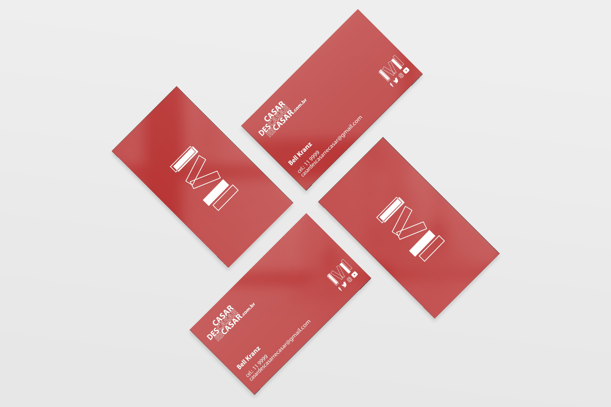 Business card mockup by  CreativeBooster .