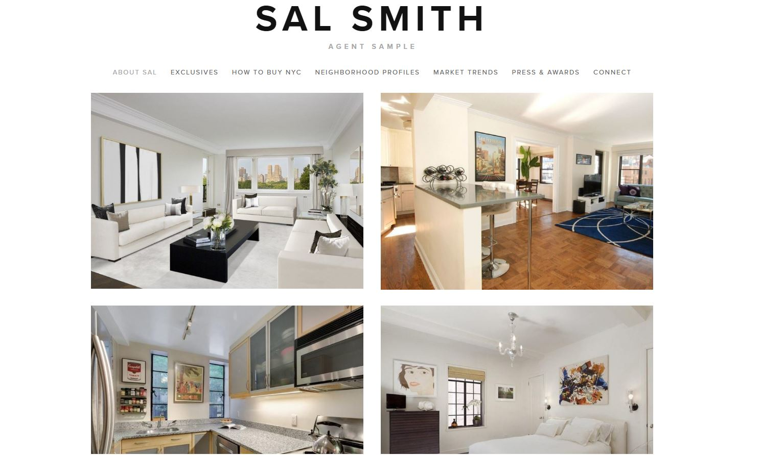 Real estate website focused on exclusive properties. Site features instant update listings, large HD pictures with pop-out, easy share, and save capabilities. Social media push feeds embedded.