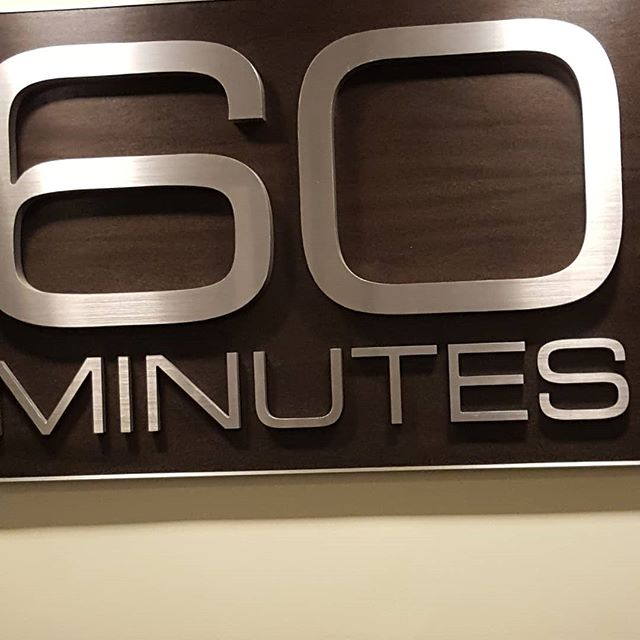 Spent the morning at 60 Minutes. Very cool people, very exciting project!