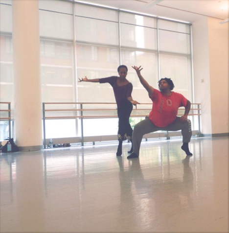DeAngelo dancing with Francesca Harper. Photo by Eriko Iisaku.