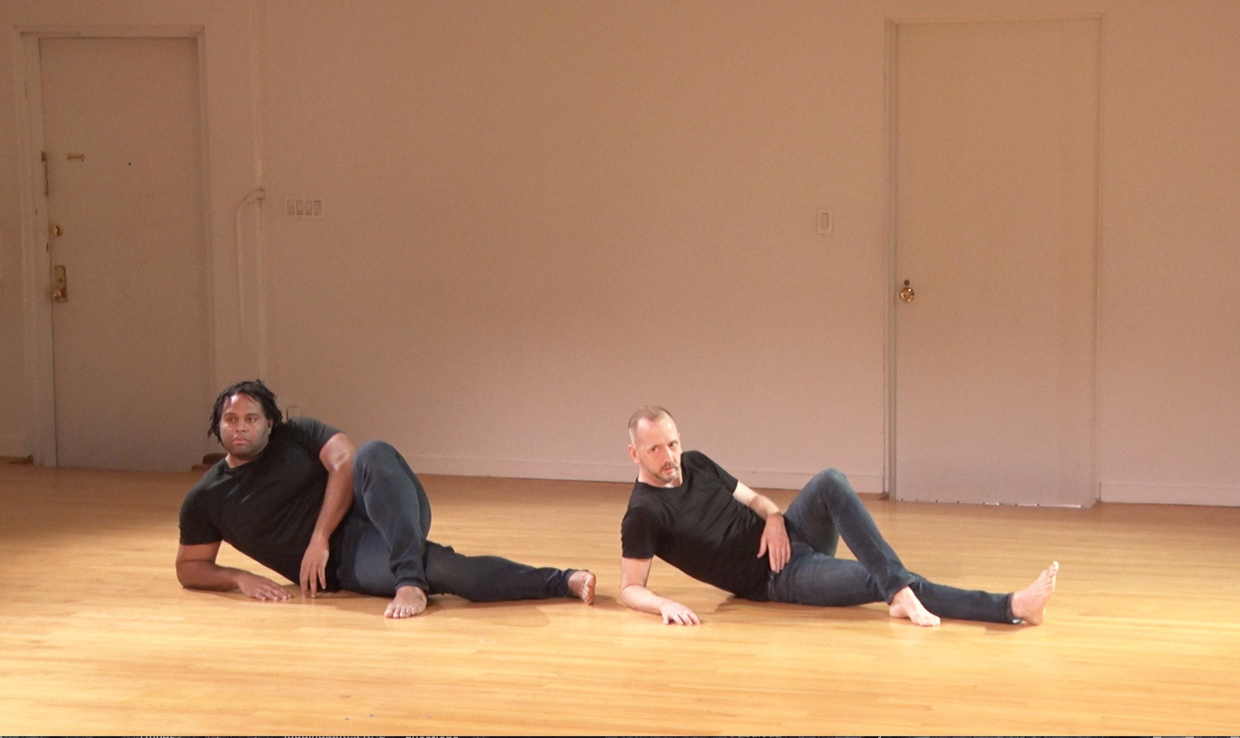 DeAngelo Blanchard and John Jasperse. Photo still from video by Davidson Gliotti.